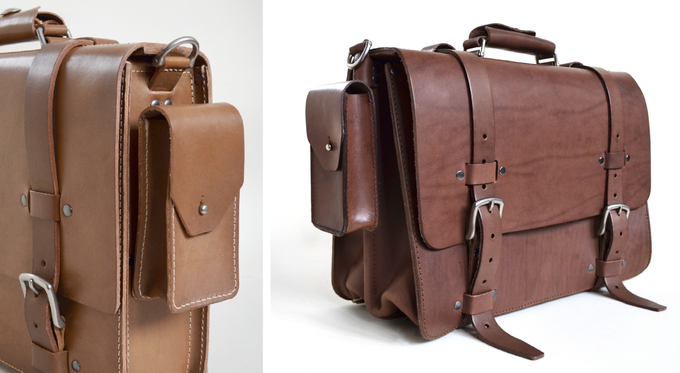 (Side pockets can also be attached to our Classic Satchel.)
