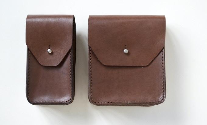 (Narrow pocket left, wide pocket on the right.)