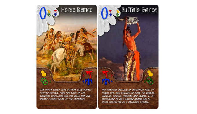 Game Play Tip: Playing special dance cards with matching secondary dances beside one another scores BOTH!