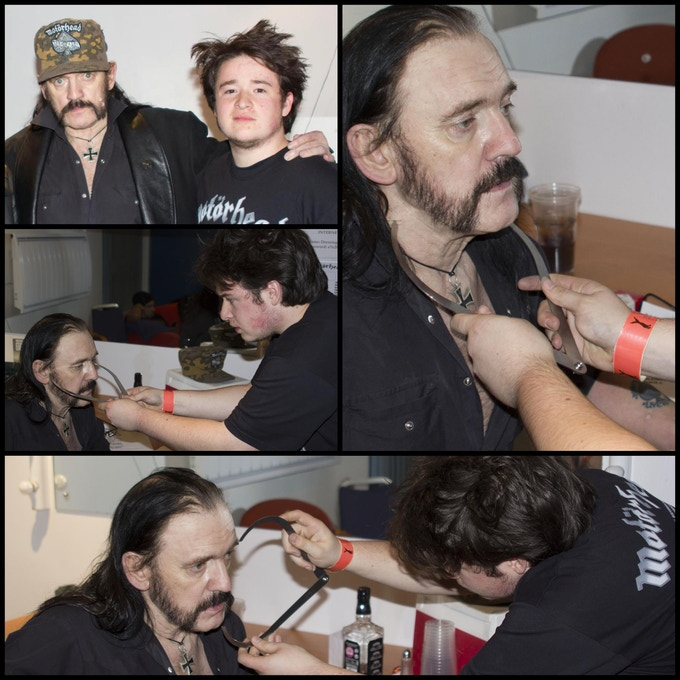 Whyte's Son Corey working from Lemmy