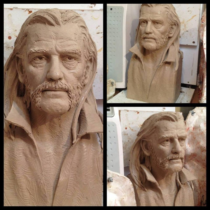 Whyte's life size bust of Lemmy
