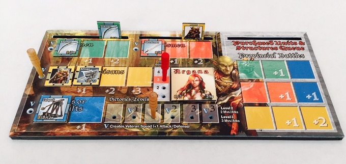 Battleboards help players manage their hero and army statistics.