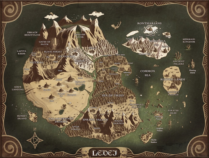 Universe of Ledei. This map also will host Last Hand's Quest Campaign. Players will collect their first cards in these quests