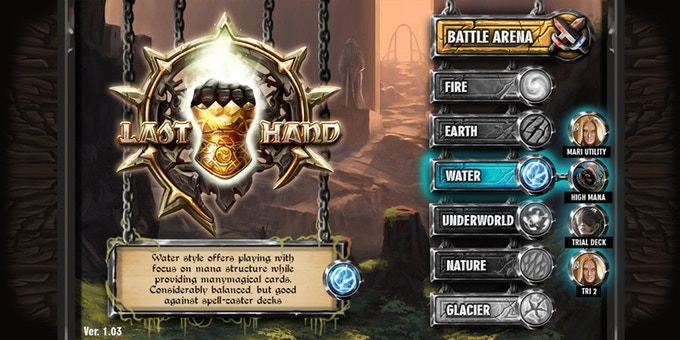 It's basically forming decks for each element that will serve any style or strategy you would want to play.