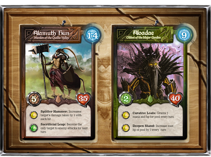 Each hero class is eligible for different strategies and combo possibilities in Last Hand. Centaurs are more likely to be the base of defensive earth decks whereas Treants are more likely to be the protector and healer of Nature decks