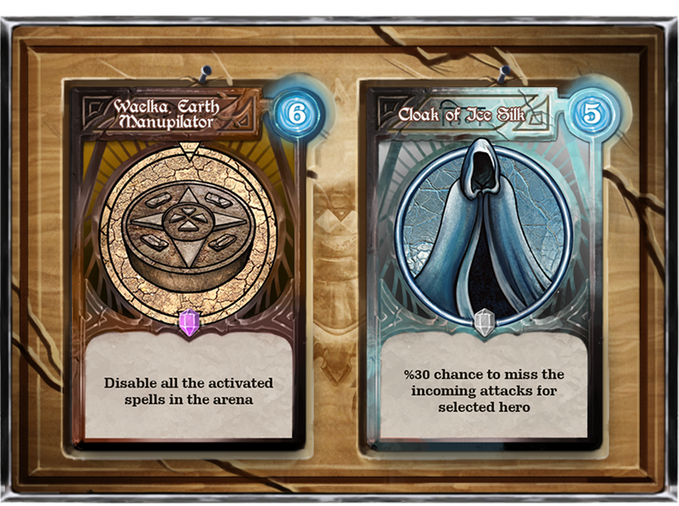 Artifacts can be upgraded from their common form to the epic levels. Also, their powers depend on their crafting levels