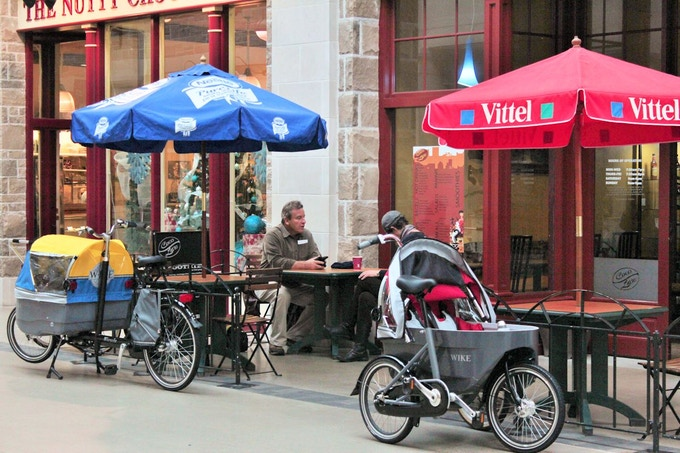 Bicycle and Stroller
