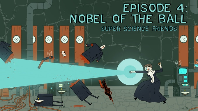 The Nazis have stolen all the world's Nobel prizes ... except for two!