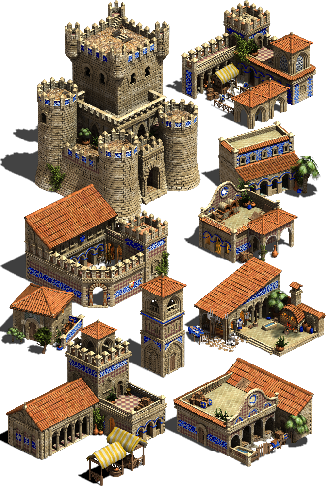 Spanish building prototypes, tier 3 (not to scale)