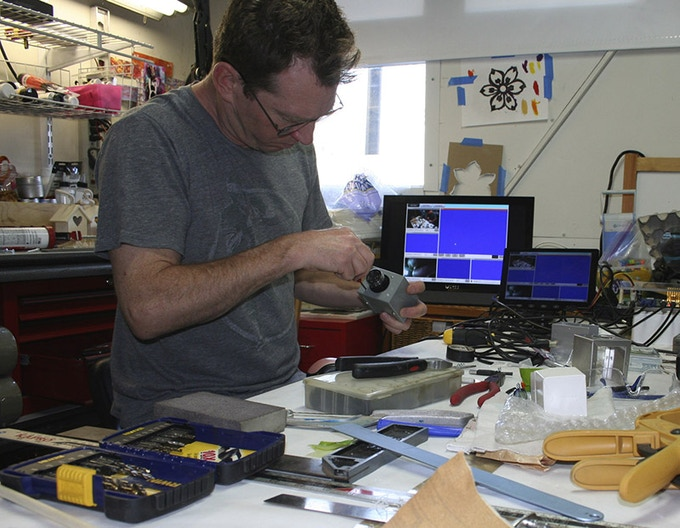 Assembling the prototype camera into temporary housings