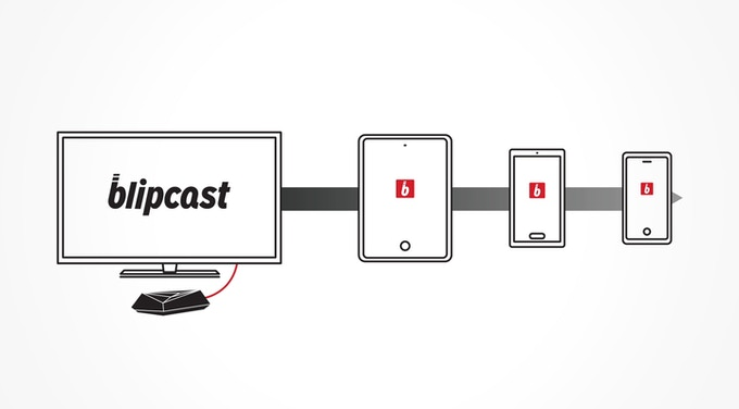 A single blipcast can stream to multiple smart devices at once.