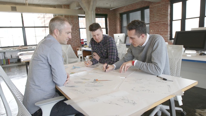 Jonathon, Brian, and Brett (Kem Studio, Kansas City) are the industrial designers behind the look of blipcast.