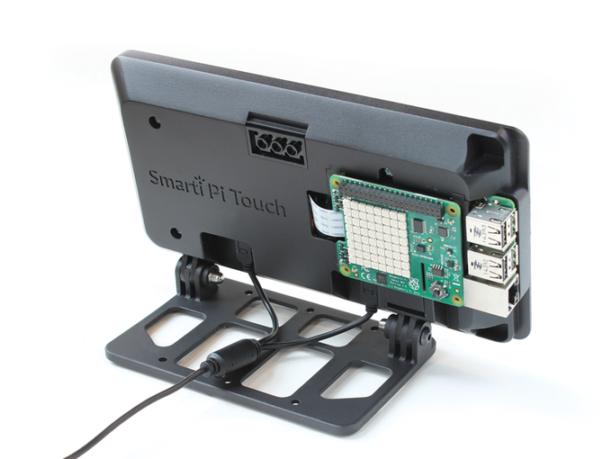 HAT boards can be attached to the back of the case, adding even more functionality.