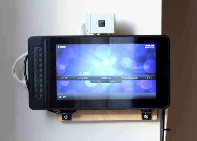 In the image above, the display is mounted with the optional small footprint screw-in mounts. These mounts have a small footprint while providing additional clearance to attach HAT boards to the back of the case.