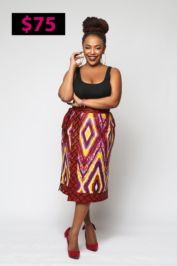 The Power Pencil Wrap Skirt