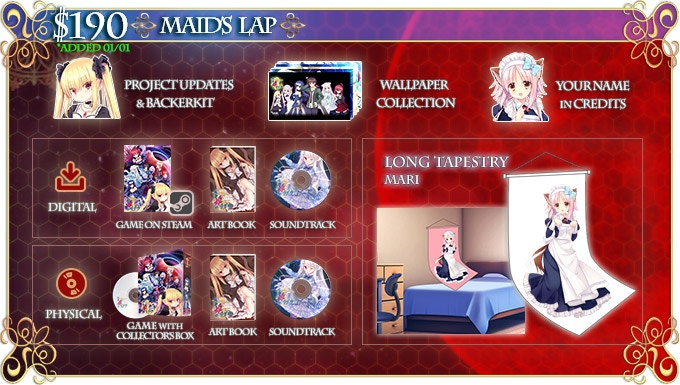 """Tapestry Dimensions: 60cm x 160cm. If you like this, please also check out the """"Wake Up My Master"""" Reward for an additional Mari feature!"""