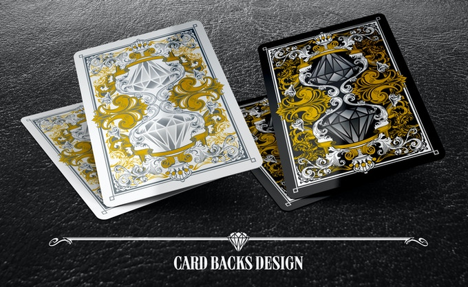 Black and White Edition Backs. Featuring Shiny Metallic Ink!