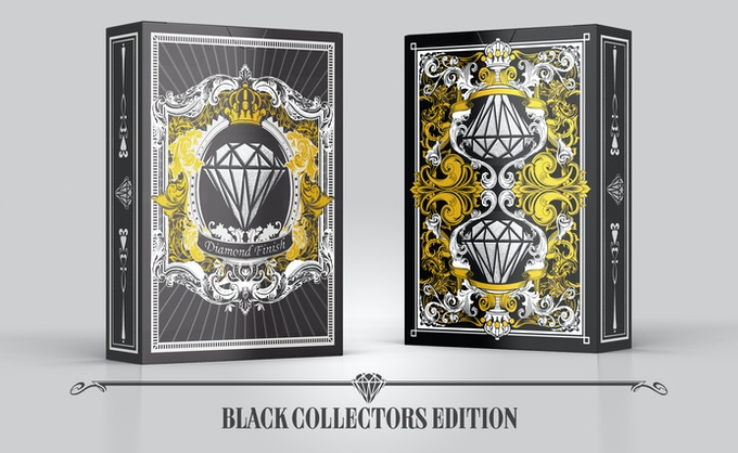 Embossed gold and silver metallic ink with Silver foil (Add £8 to any pledge per extra deck)