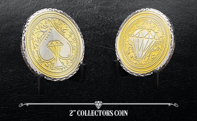 """Front and Back of 2"""" Collectors Coin (Add £10 to any pledge)"""