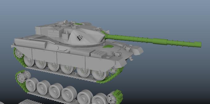 Chieftain MBT Render