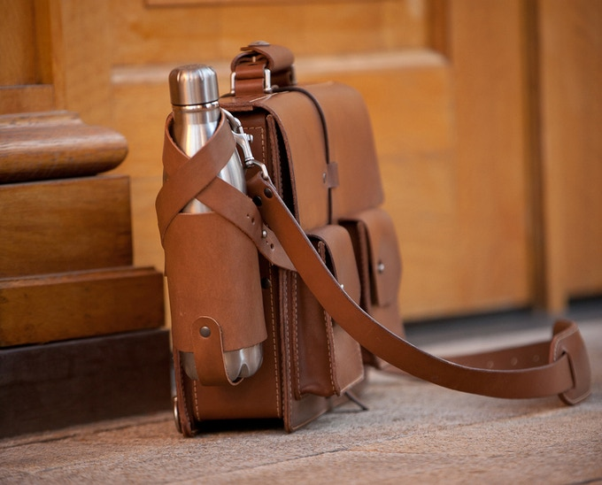 Accessories such as the water bottle shown can add utility. Customize to suit your personal needs.
