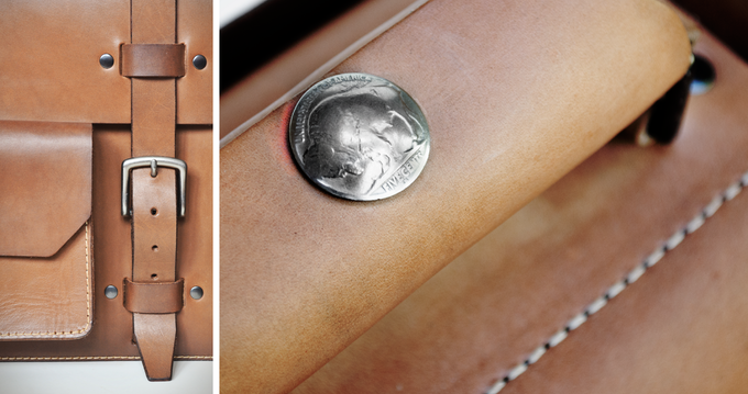 Simplicity in design allows the beauty of the materials to show through. We use real 1930's Buffalo Head nickels on handle wraps—a tribute to the era that inspired the designs.