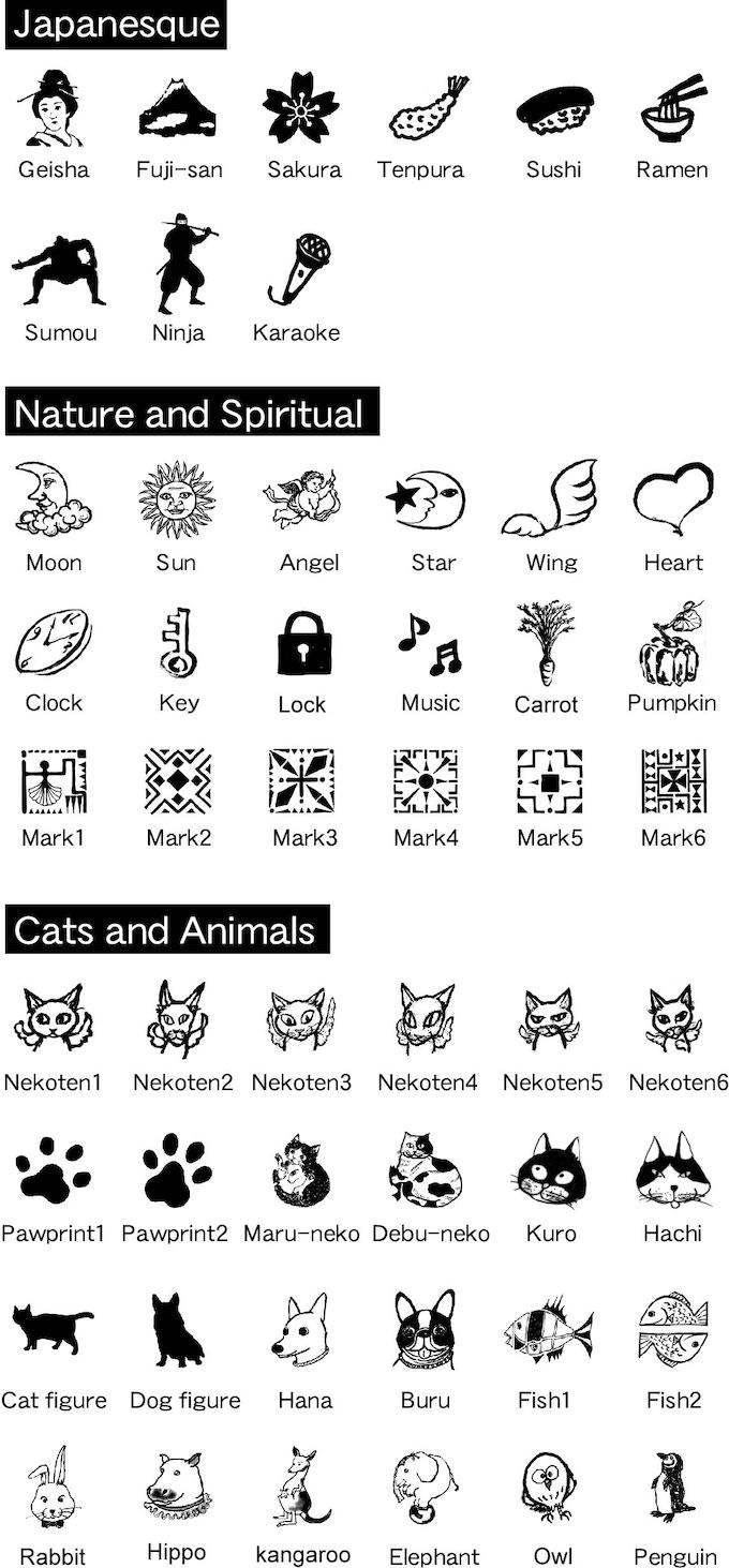 symbol design variation