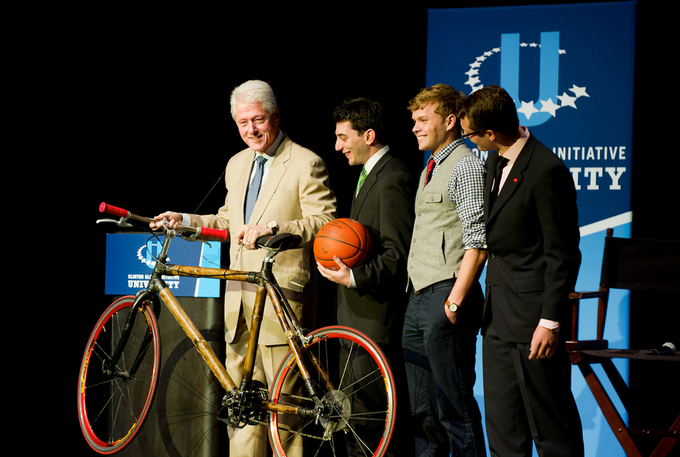 Pedal Forward with Former President Clinton