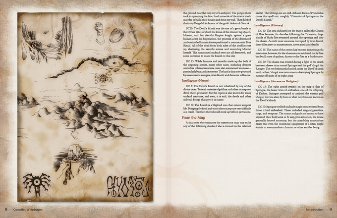 5th Edition Layout from Gauntlet of Spiragos