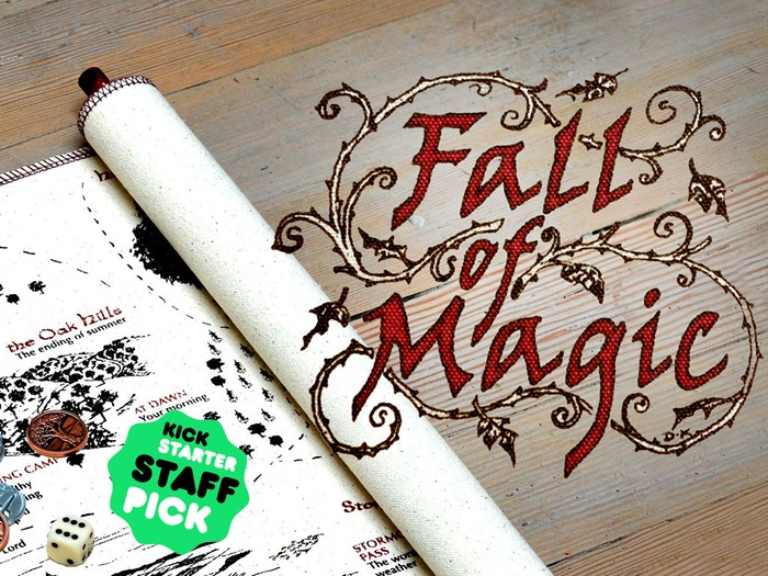 Elegant and immersive – featuring a handmade scroll that unrolls as we travel revealing new roads, strange hosts, and perilous choices.