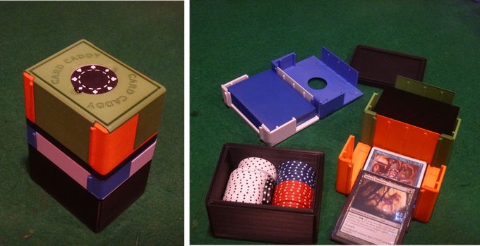The Card Caddy is the heart of fully customizable gaming storage and play system