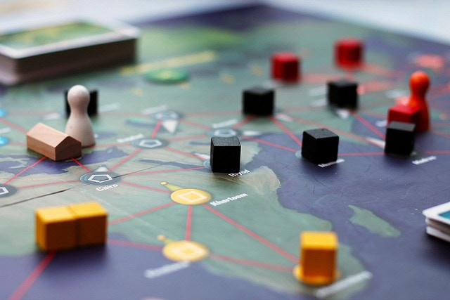 Pandemic, an amazing co-operative game