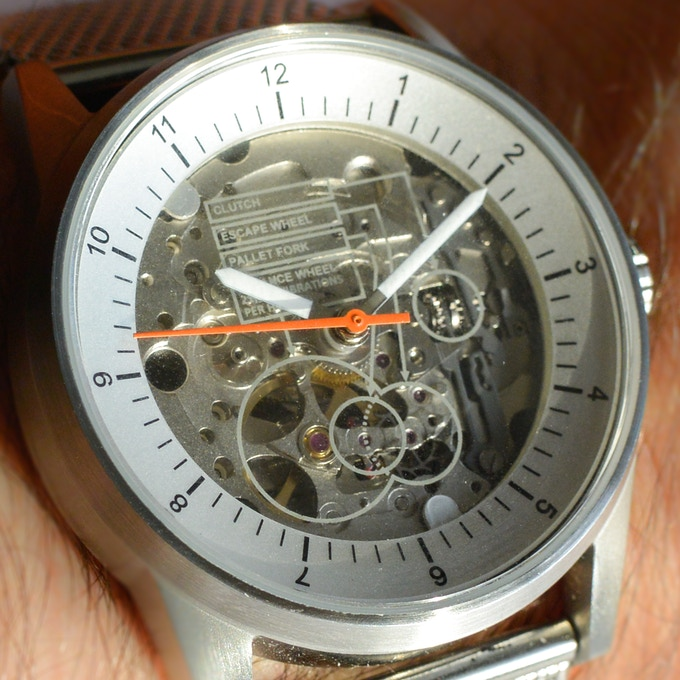 The didactic glass watch face