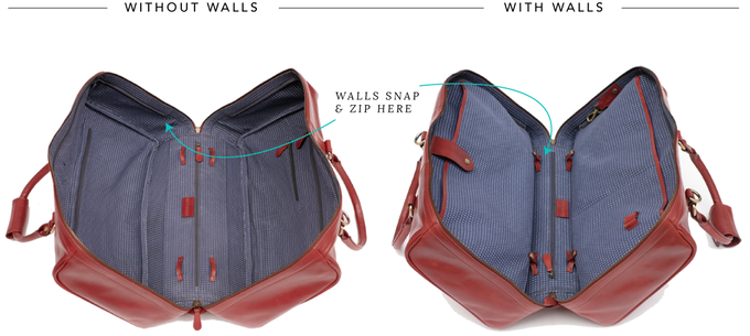 By Adding Removable Walls The Duffle Suitcase Is Distinct From Every Other It S Engineered
