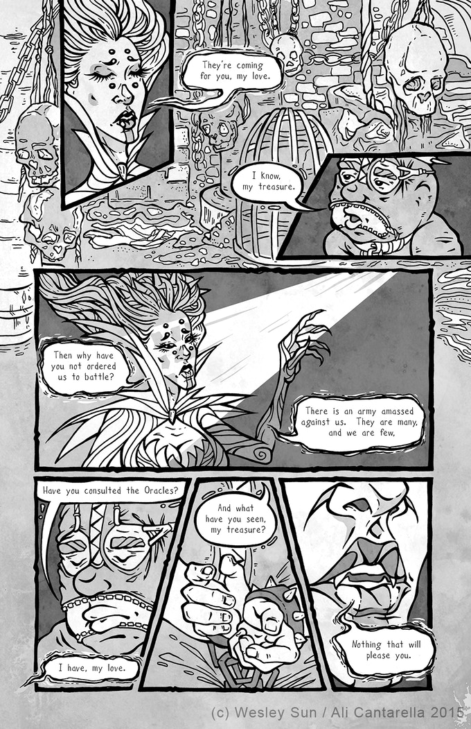 Story by Wesley Sun. Art by Ali Cantarella.