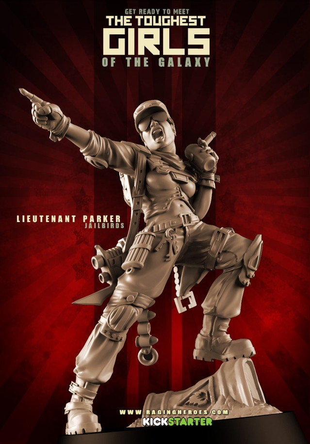 TGG1's troublemaker Lieutenant Parker, now available for purchase