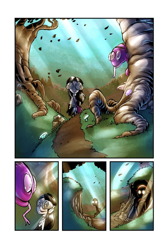 Example of a finished page from Little Prometheus