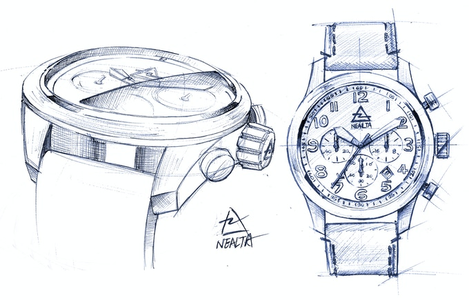 final sketch with selected design