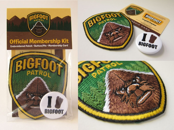 """Bigfoot Patrol Membership Kit"" items"