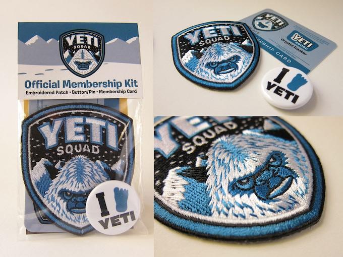 """""""Yeti Squad Membership Kit"""" items"""