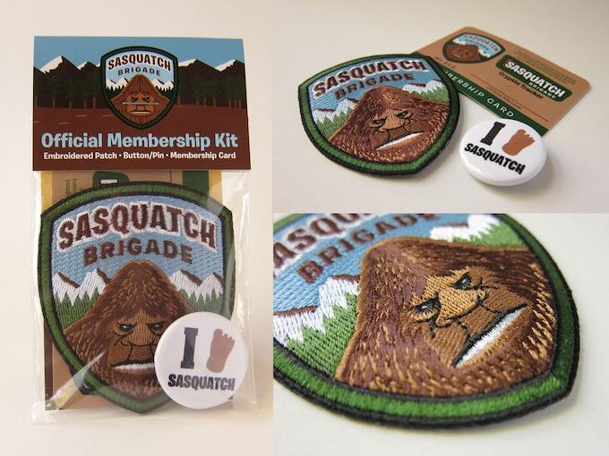 """""""Sasquatch Brigade Membership Kit"""" items"""