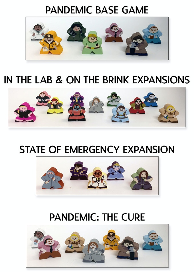 Character Meeples for Pandemic (& Expansions)