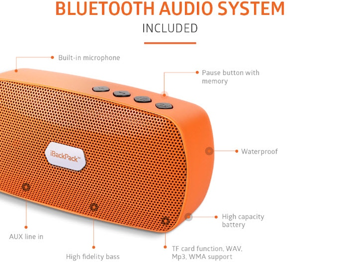 The Bluetooth Speaker providers superior listening as well as functions as a high-quality speaker phone.