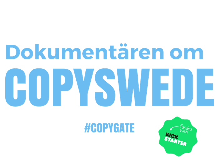 A film about the Swedish organisation Copyswede and copyright levies.