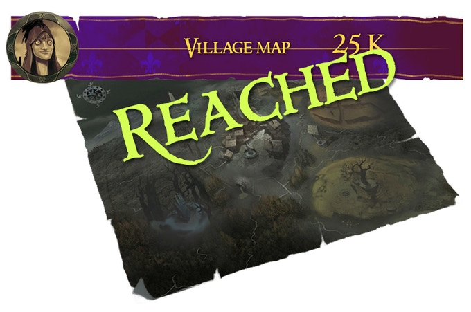 A detailed map of the Village and it's mystical areas - poster size