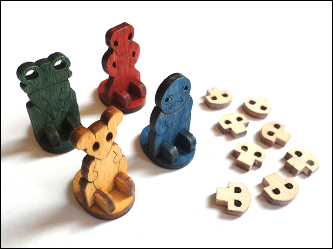 The pawns and damage markers