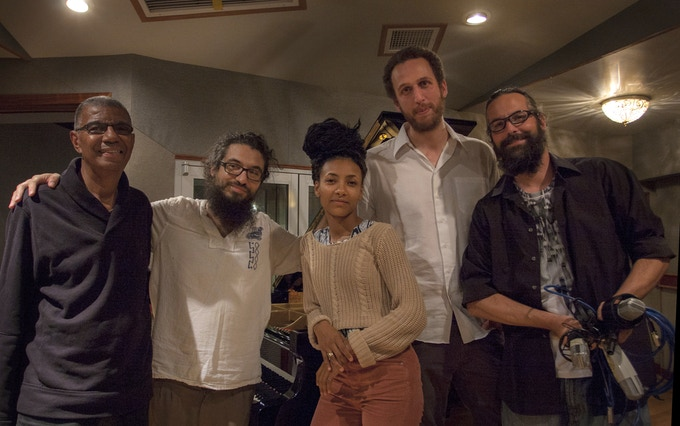 Jack DeJohnette, Leo Genovese, Esperanza Spalding, Newvelle co-founder Elan Mehler and our brilliant engineer Marc Urselli ©Paul Yanshyshyn