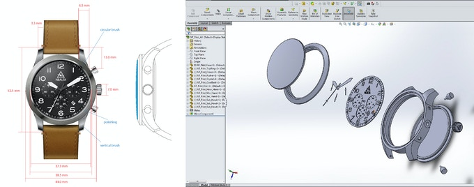 2D artwork & 3D modeling - finishing & construction study