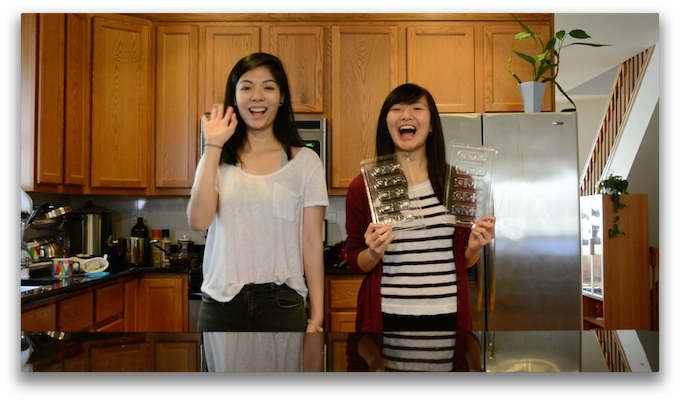 Most cheerful greetings from my helper, Vivian (left) and me :D