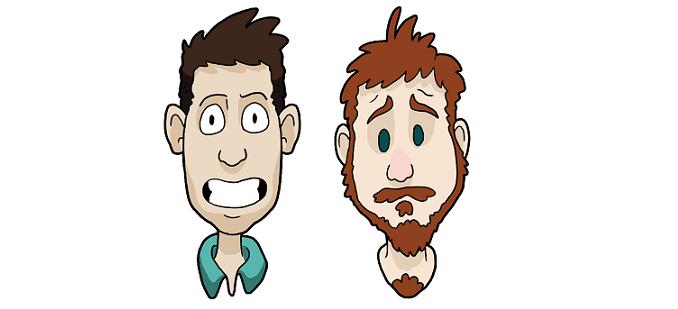 Left - Daniel, Right - Rob